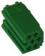 Conector Mini-ISO. 6 Polos. 5 Unidades (Verde)
