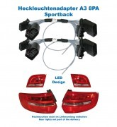 Adapter facelift Heckleuchten LED für Audi A3 8PA Sportback