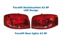 Facelift Heckleuchten LED-Design original Audi A3 8P