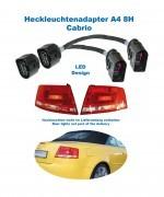 Adapter facelift Heckleuchten LED für Audi A4 8H Cabrio