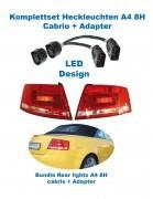Facelift Heckleuchten LED Audi A4 8H Cabrio + Adapter