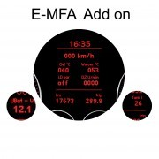 E-MFA DIS Add-On - Display Boost, Oil, Battery