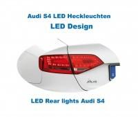 Komplett Set LED Heckleuchten Audi A4/S4 Limousine