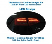 Wiring + coding dongle LED Rear Lights for Audi A4/S4 Avant