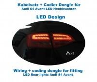 Kabelsatz + Codier Dongle LED Heckleuchten für Audi A4/S4 Avant