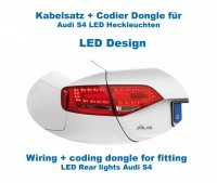 Wiring & coding dongle LED Rear Lights for Audi A4/S4 Sedan