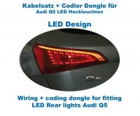 Wiring + coding dongle LED Rear Lights Audi Q5