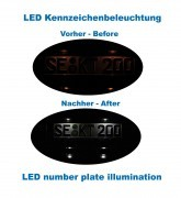 Bundle LED number plate illumination Audi A5 8T, A4 8K, Q5 8R