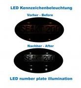 Komplett Set zur Nachrüstung LED Kennzeichenbeleuchtung Audi A5 8T, A4 8K, Q5 8R