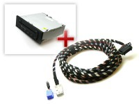 Audi CD Wechsler inkl. Kabelsatz für A3 8P, A4 8E, TT 8J - Mini ISO, 1,8 m Länge