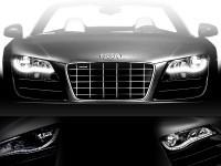 LED headlight upgrade for Audi R8 - right hand traffic