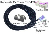 TV Receiver w/ CAN - Harness - Audi RNS-E