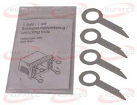 Radio removal key 4x VW, Ford, Audi, Seat, Skoda, Mercedes