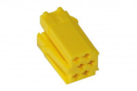 MINI ISO connector housing 6 pin yellow, 10 pieces