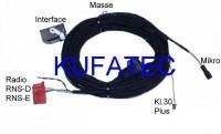 """Kabelsatz FSE Handyvorbeitung BT Audi """"Nur Bluetooth"""" - Mini ISO"""