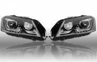Bi-Xenon Headlights LED DTRL - Upgrade for VW Passat B7 - without electr. shock absorber / 4Motion
