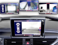 Complete bundle camera front & rear for Audi A6 4G 4ZB until 2014 - Crhome