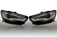 Bi-Xenon Headlights LED DTRL - Upgrade - Audi A6 4G - right-hand trafic