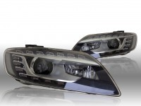 Bi-Xenon Headlights LED DTRL - Audi Q7 4L - L&R - w/o corning light