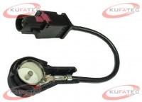 Antenna adapter FAKRA black - 50 ohms of ISO