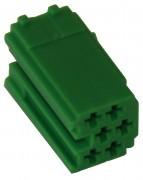 MINI ISO - Green Plug Housing - 6-pin, 10pc