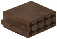 ISO loudspeaker plug housing 8 pin, 10 pieces