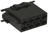 ISO - Black Plug Housing - 8-pin, 10pc