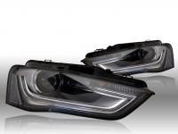 Bi-Xenon Headlights LED DTRL for Audi A4 8K Facelift - right traffic