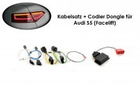 Wiring harness + coding dongle LED Rear Lights Audi A5/ S5 Facel