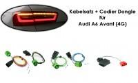 Kabelsatz + Codier Dongle LED-Heckleuchten für Audi A6 Avant (4G)