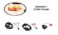 Kabelsatz + Codier Dongle LED Heckleuchten Audi A4 Avant Facelift