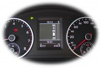 Park Assist incl. Park Pilot with OPS Retrofit for VW Tiguan 5N - PDC rear available, front wheel drive