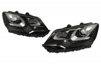 Bi-Xenon Headlights LED DTRL Upgrade for VW Sharan 7N - with electr. shock absorber