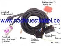 Kabelsatz Navi klein BNS 3.X, 4.X Audi A3 8P & 8P Sport