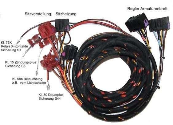 kabelsatz sitzverstellung sitzheizung audi a4 b5 36275. Black Bedroom Furniture Sets. Home Design Ideas