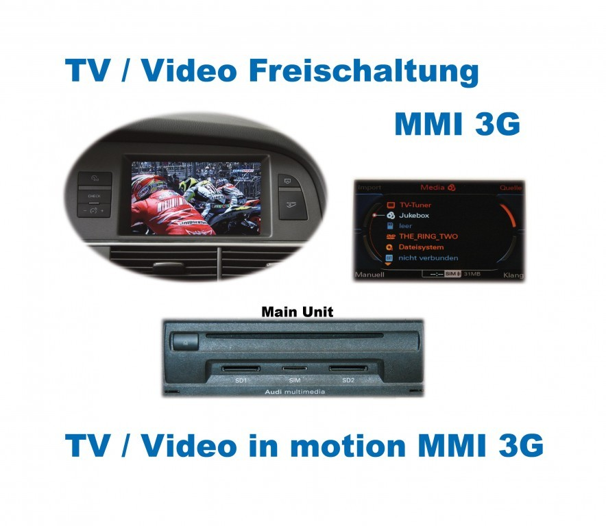 video in motion mmi 3g for audi. Black Bedroom Furniture Sets. Home Design Ideas