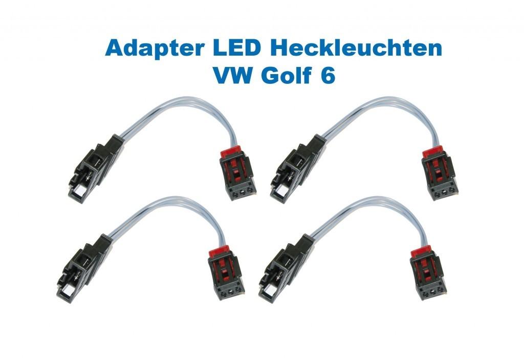 adapter led heckleuchten f r vw golf 6 vi. Black Bedroom Furniture Sets. Home Design Ideas