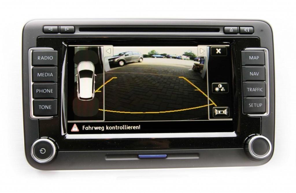 complete retrofit kit rear view camera version low for vw. Black Bedroom Furniture Sets. Home Design Ideas