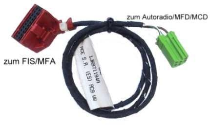 fis mfa harness vw passat 3b w mfd mcd gamma 40279