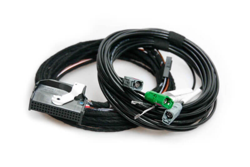Rear View Camera Harness For Vw Touareg 7p Rns 850