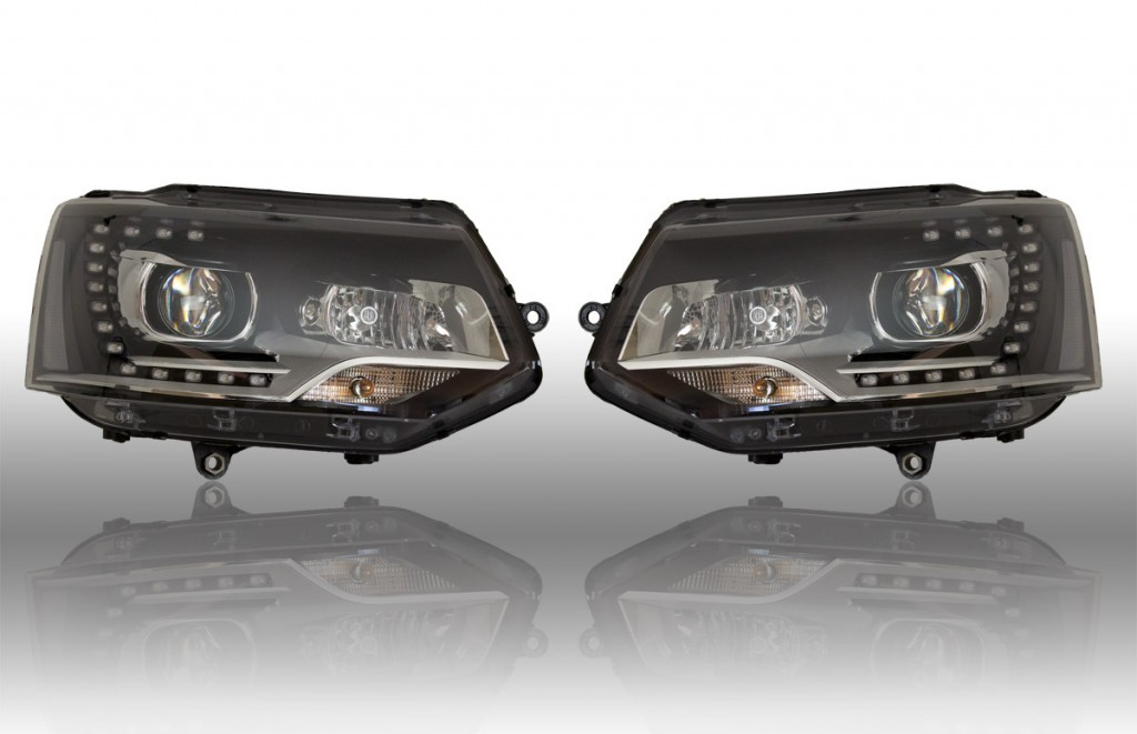 bi xenon scheinwerfer led tfl vw t5 gp 40600. Black Bedroom Furniture Sets. Home Design Ideas