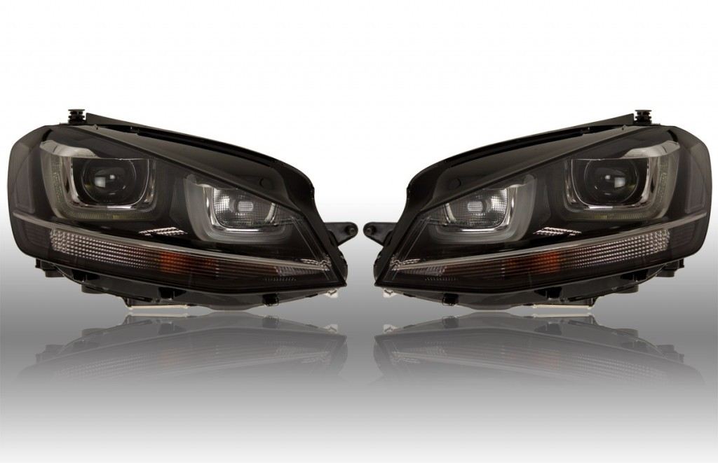 bi xenon headlight led dtrl for vw golf 7. Black Bedroom Furniture Sets. Home Design Ideas