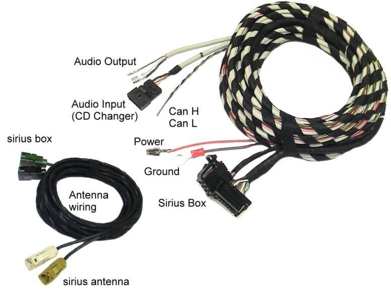 sirius radio harness audi a3 8p 8p sport 34458