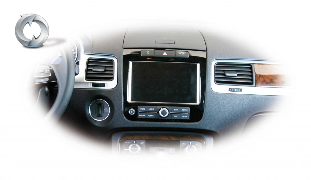 retrofit radio rcd 510 550 to navigation rns 850 vw touareg 7p. Black Bedroom Furniture Sets. Home Design Ideas