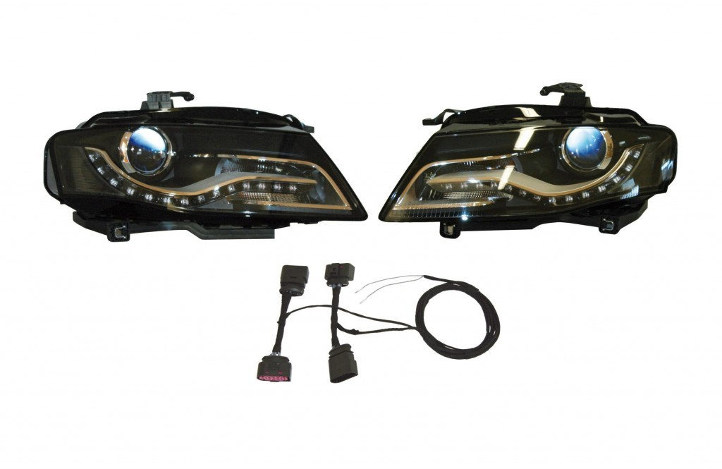 bi xenon led headlights for audi a5 8t with daytime. Black Bedroom Furniture Sets. Home Design Ideas