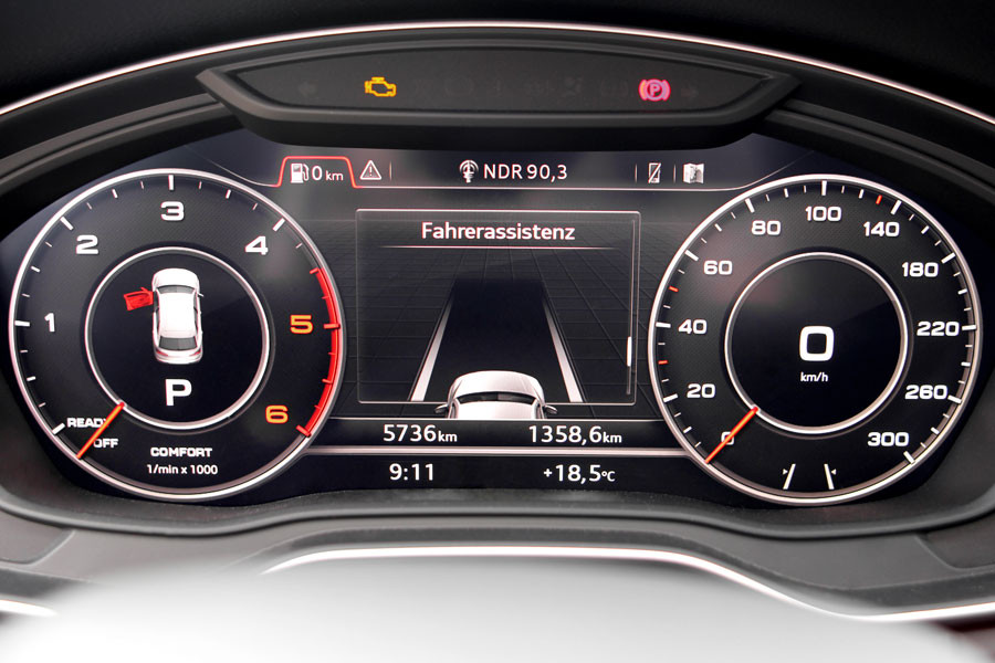 Active Lane incl. traffic jam assist for Audi A4 8W
