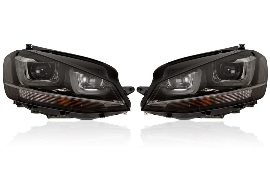 bi xenon headlight with led drl for vw golf 7. Black Bedroom Furniture Sets. Home Design Ideas