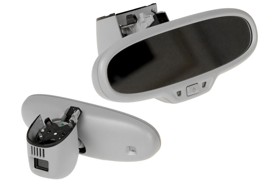 Interior mirror with HBA for Audi A3 8V - crystalsilver