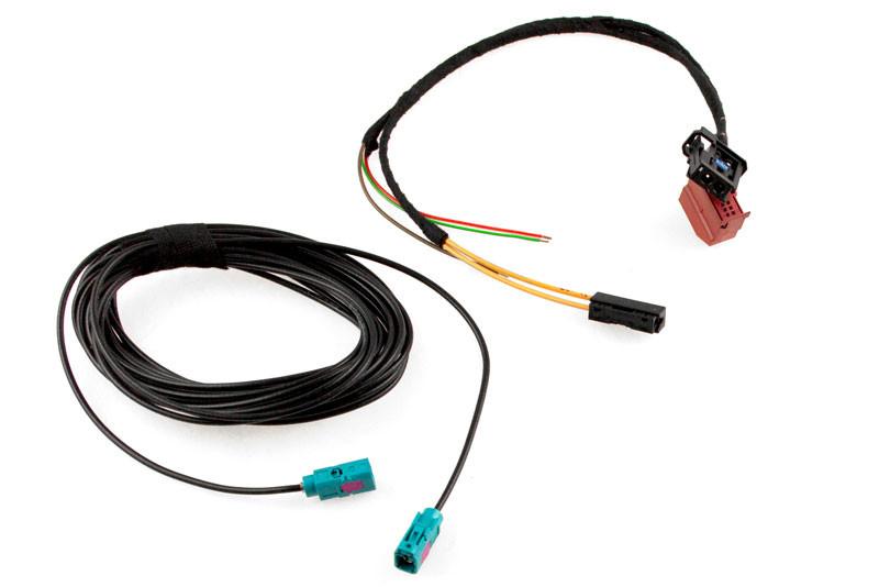 tv tuner harness with fiber optic