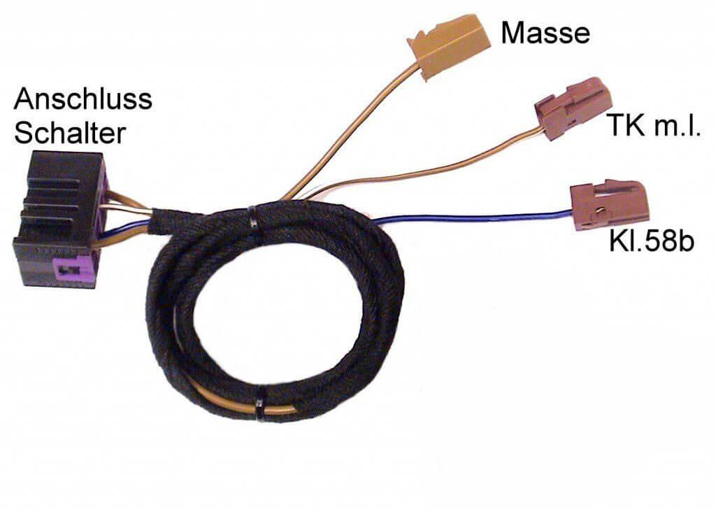 kabelsatz zusatzschalter innenlicht nachr sten f r vw t4. Black Bedroom Furniture Sets. Home Design Ideas